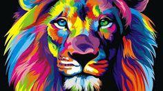 Resultado de imagem para lion watercolor tumblr