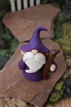 Polymer Clay Wizard Miniature Wizard Mini Clay by GnomeWoods