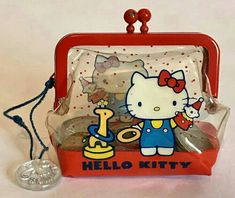 Vintage HELLO KITTY Coin Purse SANRIO Clear Plastic Coin Purse And Wallet! Wallet has a small pen mark to the back(see photo) overall super cool! Hello Kitty Purse, Sanrio Hello Kitty, Paw Patrol Toys, Popular Purses, Bubble Stickers, Sanrio Characters, Wholesale Handbags, Little Twin Stars, My Childhood Memories