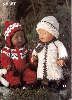 Album Archive - Dukketøj til Baby Born 2 - Ingelise Baby Born Clothes, Girl Doll Clothes, Girl Dolls, Knitting Dolls Clothes, Doll Clothes Patterns, Baby Patterns, Knitting Patterns, Tiny Tears Doll, Baby Doll Toys