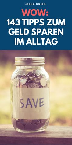 ᐅ Der ultimative Spar-Guide: Die 143 besten Tipps zum Geld sparen In our ultimate savings guide, you will learn the best 143 tips to save money in everyday life. money up Weekly Savings Plan, Savings Planner, Money Saving Challenge, Money Saving Tips, Savings Chart, Money Plan, Budget Planer, Best Savings, Frugal Living Tips