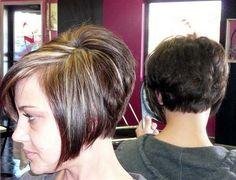 Short Hair Styles: Studio Sizzle Salon's Stacked Styles... Gotta love a short stacked bob