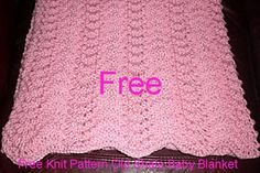 Old Shale Baby Blanket Knit Pattern