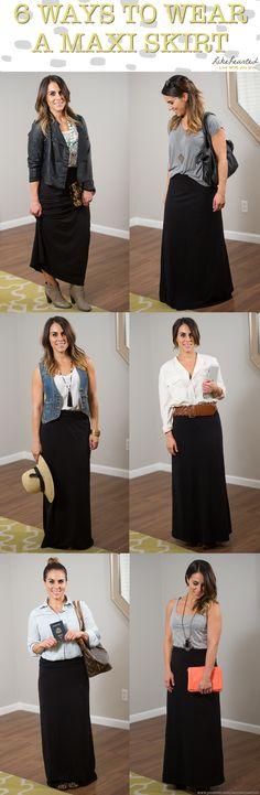 6 ways to wear a maxi skirt