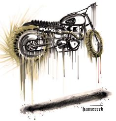 Illustration Scrambler by Hamerred   www.caferacerpasion.com