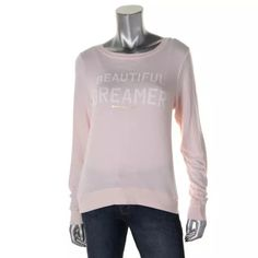 NWTSPIRITUAL GANGSTER Pink Knit Graphic Blouse Manufacturer: Spiritual Gangster Size: S Size Origin: US Manufacturer Color: Blush Retail: $100.00 Condition: New with tags Style Type: Blouse Collection: Spiritual Gangster Sleeve Length: Long Sleeve Bust Across: 17 1/2 Inches Material: 47% Polyester/47% Rayon/6% Spandex Fabric Type: Knit Specialty: Graphic Spiritual Gangster Tops