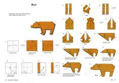origami bear! #bear #origami