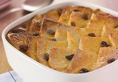 Caramelized bread with butter pudding