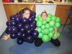 Grapes Costume, Fruit Costumes, Halloween, Cute, Easy, Kawaii, Spooky Halloween