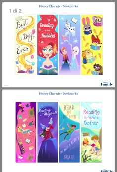 Disney Bookmarks, Free Printable Bookmarks, Creative Bookmarks, Cute Bookmarks, Bookmark Craft, Disney Diy, Disney Crafts, Save Water Poster Drawing, My Little Pony Unicorn