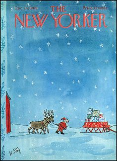 fuckyeahvintage-retro:  The New Yorker cover - December 24, 1966. Art by William Steig.