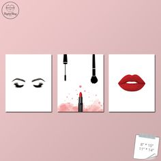 Makeup Room Decor, Makeup Print, Makeup Art, Fashion Decor, Set of 3, Eye Mascara Print, Lipstick Print, Eyelash Print, Instant Download #makeup, #makeup_decor, #makeup_art, #makeup_decor, #makeup_decor_ideas, #makeup_designs, #makeup_printables, #makeup_prints, #makeup_poster, #makeup_poster_design, #makeup_wall_art, #makeup_wall_decor, #makeup_printable_art, #makeup_printables_wall_art, #girl_boss, #girl_boss_art, #girl_boss_print, #girl_boss_poster, #girl_boss_decor, #makeup_room_decor