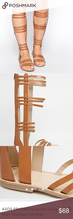 ASOS - Fentiman Tall Gladiator Sandals Tan US 7 Excellent, condition! Will update and post pics of actual shoes tonight! New, never worn! They are labeled as a 5 which converts to a 7 US. In my opinion they fit more like a 7.5 - Also the true color is closer to the first pics. I was unable to photo them in good light at the time. ASOS Shoes Sandals