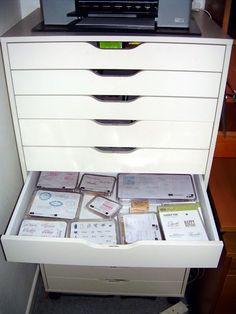 elizabeth's craft room: Storage  From IKEA called Alex