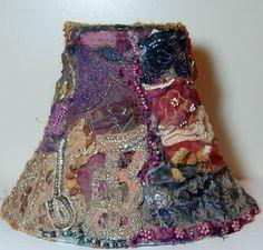 Vintage Boho Shaby Chic Lamp Shade by TwaniasVintageJunkie on Etsy
