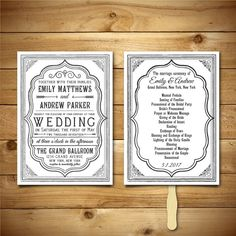 Printable Wedding Invitation & Program Templates  by birDIYdesign