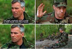 """Anybody with with a snake their head, raise their hands.""--gotta love Jack"