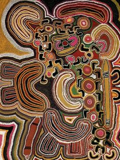 "creating personal ""maps"" based using visual elements of aboriginal art? Aboriginal Patterns, Aboriginal Painting, Dot Painting, Indigenous Australian Art, Indigenous Art, Arte Tribal, Tribal Art, Tribal Style, Kunst Der Aborigines"