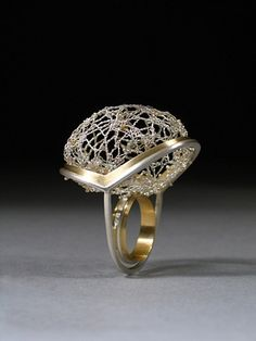 Alicia Jane Boswell. 'Spider Lace'. Sterling silver, fine silver, 18k gold. For more follow www.pinterest.com/ninayay and stay positively #pinspired #pinspire @ninayay