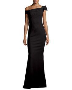 TBRLW La Petite Robe di Chiara Boni Grazie Asymmetric Mermaid Gown, Nero
