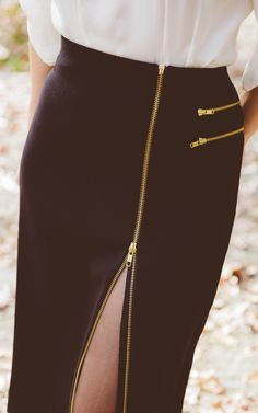 It's all about unexpected zippers this season. My Worthington zip pencil skirt is a classic twist on a fashion staple.
