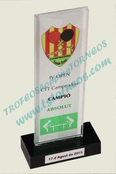 Trofeos Tenis mesa - Trofeo de metacrilato Packing, Phone, Breakfast Nook, Tennis, Bag Packaging, Telephone, Mobile Phones