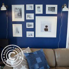 Deko, DIY,Denim,Jeans, from Trash to Treasure, kreativ, nähen, Raumdeko, selbstgemacht, Wohnen, upcycling,Kissen, Lifestyle, Patchwork,blaue Wand,Ikea
