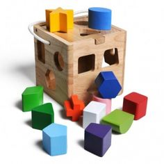 Jeu de cubes en bois de hêtre