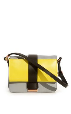 Color Block Nappa Shoulder Bag by Cedric Charlier for Preorder on Moda Operandi