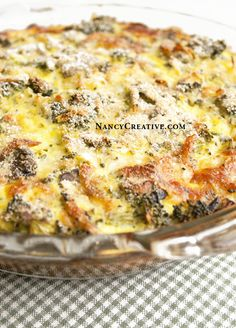 Crustless Broccoli Quiche