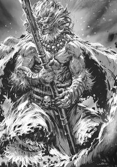 Monkey King, Chris Anyma on ArtStation at https://www.artstation.com/artwork/xq2zO