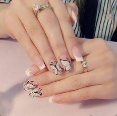 Pretty Nail Designs, Gel Nail Designs, Gold Glitter Nails, Matte Nails, Really Cute Nails, Pretty Nails, Hot Nails, Hair And Nails, Nail Art Set