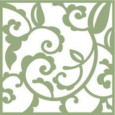 Free SVG File Spring Flourish Square #Silhouette #SCAL #Cricut #CutFile
