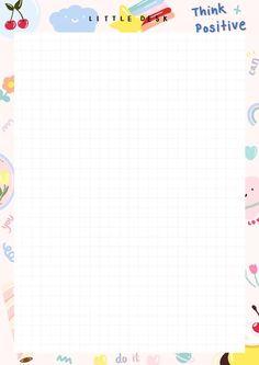 Wallpaper Doodle, Cute Patterns Wallpaper, Printable Scrapbook Paper, Printable Paper, Notes Template, Templates, Memo Notepad, Note Doodles, Cute Notes