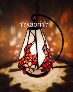 ステンドグラス 桜のランプ by ☆kaori☆ 家具・生活雑貨 インテリア雑貨