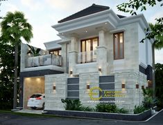 These are your favourite balkon design in the world House Arch Design, Bungalow House Design, Window Design, Classic House Design, Modern House Design, Dream House Exterior, Dream House Plans, House Construction Plan, Balkon Design