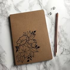 Items similar to Floral touch & feel on Etsy Floral touch & feel - Customised notebook on Etsy Diy Notebook Cover, Notebook Doodles, Sketchbook Cover, Doodle Books, Mandala Doodle, Bullet Journal School, Cute Notebooks, Envelope Art, Journal Aesthetic