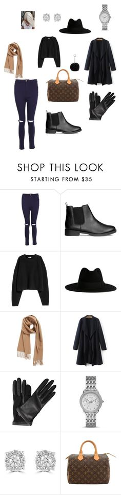 """winter style"" by annestans on Polyvore featuring Boohoo, Yves Saint Laurent, Nordstrom, Lanvin, FOSSIL, Effy Jewelry, Louis Vuitton, Nine West, Winter and outfit"