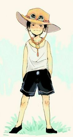 Portgas D. Ace, cute, young, childhood; One Piece