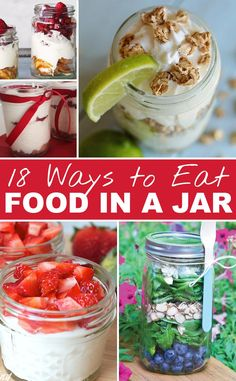 Great ideas for serving food in a jar.  If you love mason jars....this is for you!