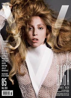 Lady Gaga, wearing Balenciaga, photographed by Inez van Lamsweerde and Vinoodh Matadin for the September 2013 cover of V Magazine.