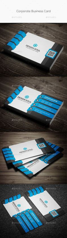 Corporate Business Card Template #design Download: http://graphicriver.net/item/corporate-business-card/11403503?ref=ksioks