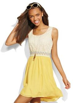 9bedbfbcc43 Lily Rose Crocheted Sleeveless Dress School Dresses