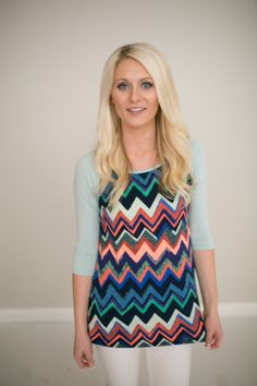 Magnolia Boutique Indianapolis - Chevron Baseball Top- Mint, $29.00 (http://www.indiefashionboutique.com/chevron-baseball-top-mint/)