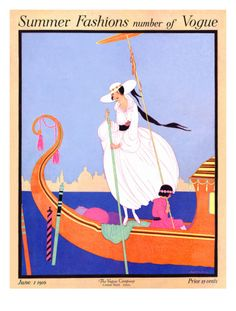 Vogue Cover - June 1916 Premium Giclee Print by Helen Dryden