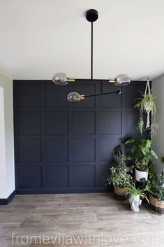 How to Make a Statement Panel Wall using Adhesive - From Evija with Love