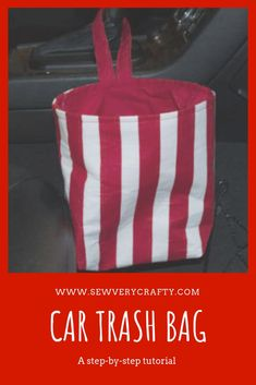 Sewing Projects To Sell Easy diy car trash bag. How to sew and easy car trash bag. How to sew an easy car trash bag. Learn to sew an easy fabric trash bag. Make a fabric car trash bag. Easy Sewing Projects, Sewing Projects For Beginners, Sewing Hacks, Sewing Tutorials, Sewing Crafts, Sewing Patterns, Diy Projects, Sewing Tips, Sewing Ideas