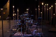 Adam Carmichael from Santa Cruz Bible Church in Santa Cruz brings us these light poles. Stage Lighting Design, Retro Lighting, Woodstock, Worship Night, Ghost Light, Church Stage Design, Black Spray Paint, All Of The Lights, Stage Set