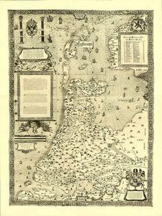 Map of Holland (1537) Jacob van Deventer.