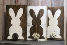 Cottontail Bunny Wooden Sign by 163rdStDeSignCo on Etsy